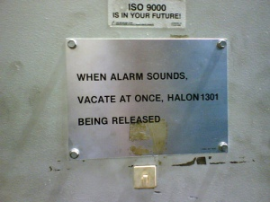 You better bet I'm vacating if I hear an alarm!
