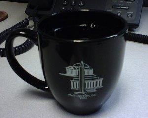 Giant Mug O' Coffee at Work