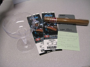Tickets, Champagne, and a Cigar - What more could you want?