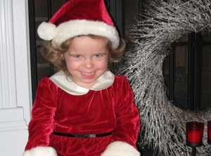Violet wishes you a Merry Xmas, too.