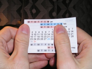 """""""Example"""" of how to read thumb calendar"""