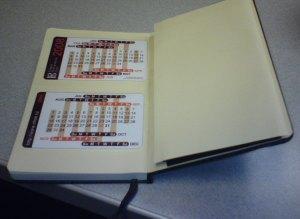 Small Moleskine w Thumb Calendar