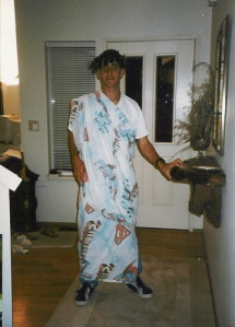 What? They said wear a sheet for the toga party, right?