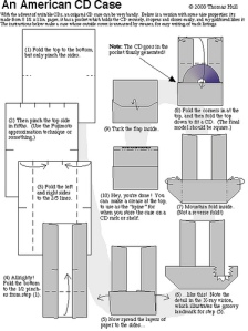 How to fold a CD case