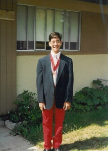 Note the matching valedictorian medal