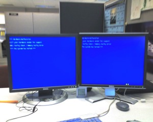 NOT the much more rare purple screen of death, as much as it may appear to be so