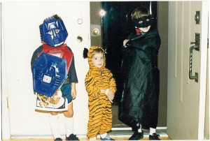 Ross, Ben and David at Halloween 1986