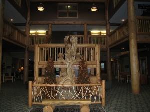 Hotel lobby, normally