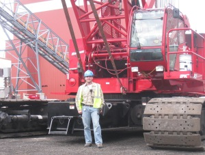 No, I don't get to drive the crane